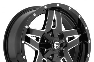 "FUEL® - FULL BLOWN 1PC Gloss Black with Milled Accents (17"" x 9"", -12 Offset, 5x127 Bolt Pattern, 78.1mm Hub)"