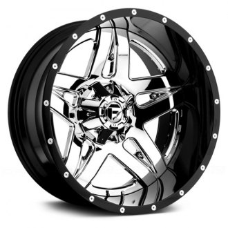 FUEL® - FULL BLOWN 2PC FORGED CENTER Black with Chrome Face