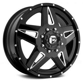 FUEL® - D254 DUALLY FULL BLOWN 2PC Black with Milled Accents