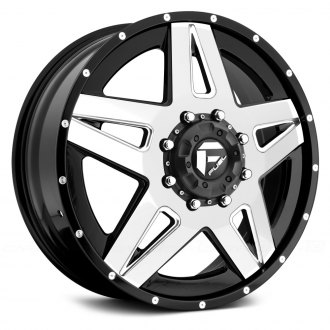FUEL® - D255 DUALLY FULL BLOWN 2PC Gloss Black with Gloss White Face and Milled Accents