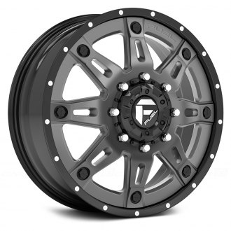 FUEL® - D232 DUALLY HOSTAGE II 2PC Gloss Black with Anthracite Center