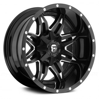 FUEL® - LETHAL 2PC CAST CENTER Gloss Black with Milled Accents