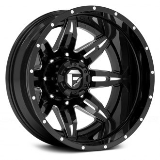 FUEL® - D267 DUALLY LETHAL 2PC Gloss Black with Milled Accents