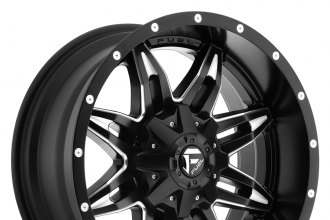 "FUEL® - LETHAL Matte Black with Milled Accents (17"" x 9"", -12 Offset, 6x139.7 Bolt Pattern, 106.4mm Hub)"