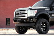 FUEL® - MAVERICK 1PC Matte Black with Machined Face on Ford F-250
