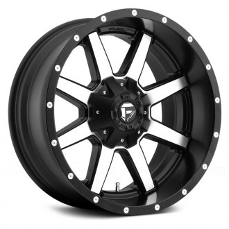 FUEL® - D537 MAVERICK 1PC Matte Black with Machined Face