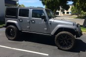 FUEL® - MAVERICK 1PC Matte Black with Milled Accents on Jeep Wrangler