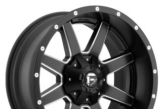 "FUEL® - MAVERICK 1PC Matte Black with Milled Accents (18"" x 9"", +1 Offset, 8x165.1 Bolt Pattern, 125.2mm Hub)"
