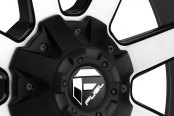 FUEL® - MAVERICK 2PC Black with Machined Face Close-Up