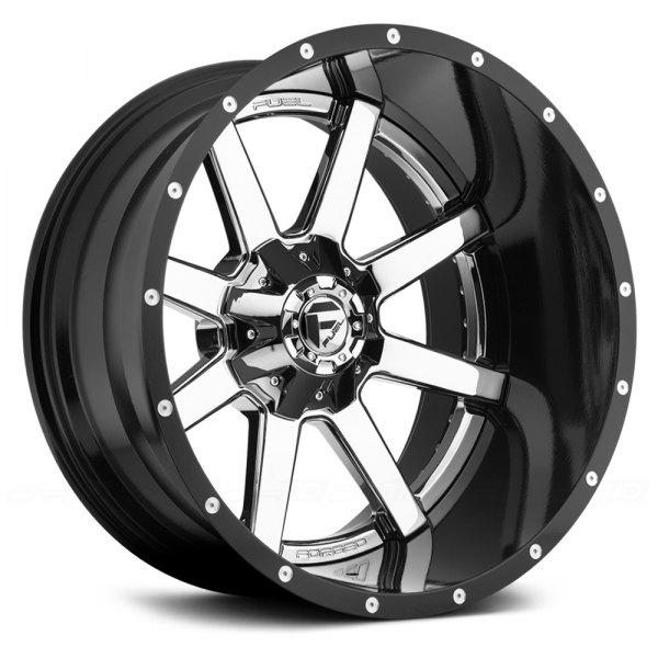 Fuel D260 Maverick 2pc Cast Center Wheels Black With Chrome Face Rims