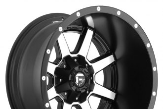 "FUEL® - MAVERICK DEEP LIP Matte Black with Machined Face (20"" x 14"", -76 Offset, 5x139.7 Bolt Pattern, 110.3mm Hub)"