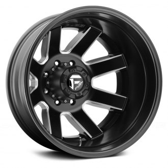 FUEL® - D538 DUALLY MAVERICK 1PC Matte Black with Milled Accents