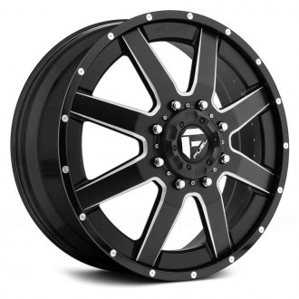 FUEL® - D262 DUALLY MAVERICK 2PC Black with Milled Accents