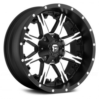 FUEL® - D541 NUTZ 1PC Matte Black with Machined Face