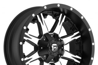 "FUEL® - NUTZ 1PC Matte Black with Machined Face (20"" x 9"", +20 Offset, 5x150 Bolt Pattern, 110.3mm Hub)"