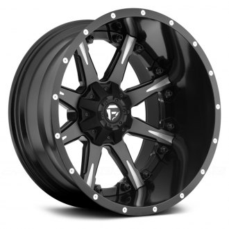 FUEL® - NUTZ 2PC CAST CENTER Black with Milled Spokes