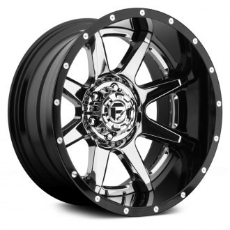 FUEL® - RAMPAGE 2PC FORGED CENTER Black with Chrome Face
