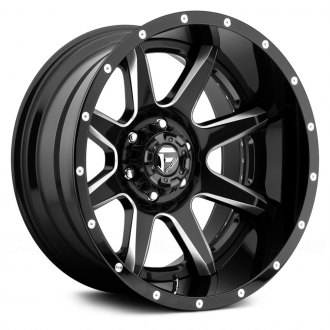 FUEL® - RAMPAGE 2PC FORGED CENTER Black with Milled Accents