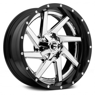 FUEL® - RENEGADE 2PC FORGED CENTER Black with Chrome Face