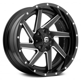 FUEL® - RENEGADE 2PC FORGED CENTER Black with Milled Accents