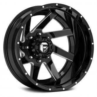 FUEL® - D265 DUALLY RENEGADE 2PC Gloss Black with Milled Accents