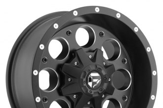 "FUEL® - REVOLVER Black with Milled Accents (15"" x 8"", -18 Offset, 5x114.3 Bolt Pattern, 78.1mm Hub)"