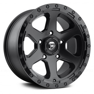 FUEL® - D589 RIPPER 1PC Matte Black with Gloss Black Lip