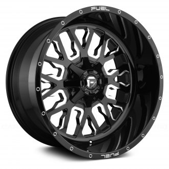 FUEL® - D611 STROKE 1PC Gloss Black with Milled Accents