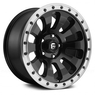 FUEL® - D629 TACTIC 1PC Black with Machined Lip