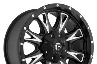 "FUEL® - THROTTLE Black with Milled Accents (20"" x 9"", +14 Offset, 6x139.7 Bolt Pattern, 106.4mm Hub)"