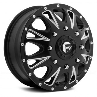 FUEL® - THROTTLE DUALLIE 1PC Matte Black with Milled Accents