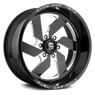 FUEL® - D582 TURBO 1PC Black with Milled Accents
