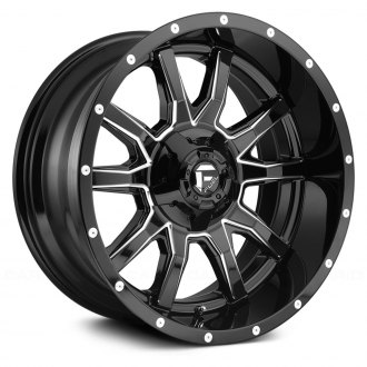 FUEL® - D627 VANDAL 1PC Gloss Black with Milled Accents