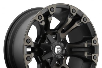 "FUEL® - VAPOR Black with Machined Face and Double Dark Tint (18"" x 9"", -12 Offset, 8x165.1 Bolt Pattern, 125.2mm Hub)"