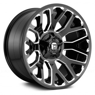 FUEL® - D607 WARRIOR 1PC Gloss Black with Milled Accents