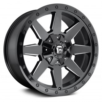 FUEL® - D597 WILDCAT 1PC Gloss Black with Milled Accents and Bead Ring