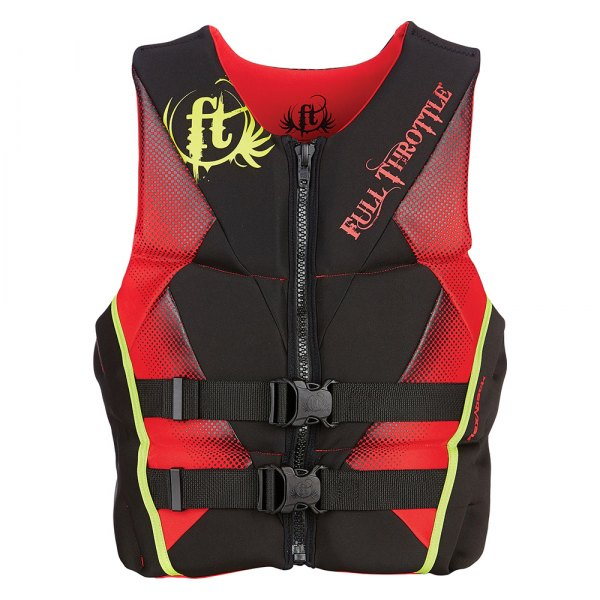 Full Throttle® - Rapid-Dry Flex-Back Men's Small Red Life Vest
