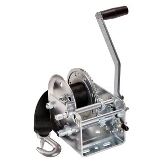 Fulton® - 2,600 lbs 2-Speed Hand Winch With 20' Strap and w/o Handle Cover