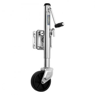 Fulton® - Bolt-On Steel Swing-Away Marine Jack with 6 Poly Wheel and 10 Travel