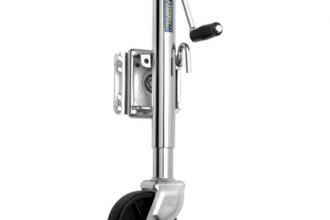 "Fulton® - Bolt-On Steel Swing-Away Marine Jack with 6"" Poly Wheel and 10"" Travel"