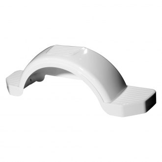 "Fulton® - 14"" Tire Size White Plastic Fender with Step"