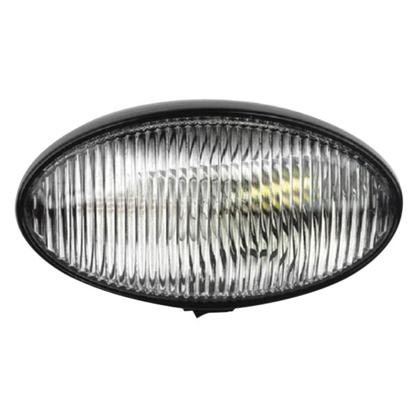 FulTyme RV® - Oval Porch Clear/Black Utility Light
