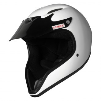G-Force® - Pro Pit Fiber Reinforced Polymer White Racing Helmet