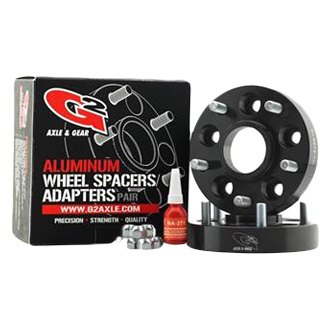 G2 Axle & Gear® - Black Anodized T-6061 Aluminum Wheel Spacer Kit