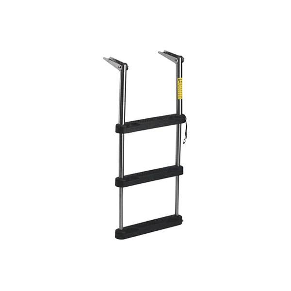 Telescoping Step Ladder : Garelick step over platform telescoping ladder