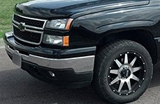 GEAR ALLOY® - 728MB OVERDRIVE Black with Machined Face on Chevy Silverado
