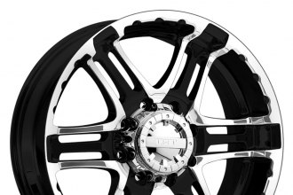 "GEAR ALLOY® - 713MB DOUBLE PUMP Gloss Black with Machined Face and Flange (20"" x 9"", +10 Offset, 5x135 Bolt Pattern, 87mm Hub)"