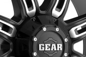 GEAR ALLOY® - 725MB DOMINATOR Satin Black with Machined Accents Close-Up