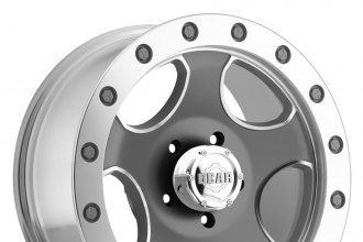 GEAR ALLOY® - 729M KINGPIN Silver with Gray Face and Machined Bead Ring