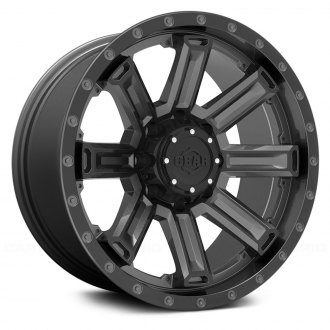 GEAR ALLOY® - 738GB SWITCHBACK Gloss Gunmetal with Black Spoke and Lip Accents